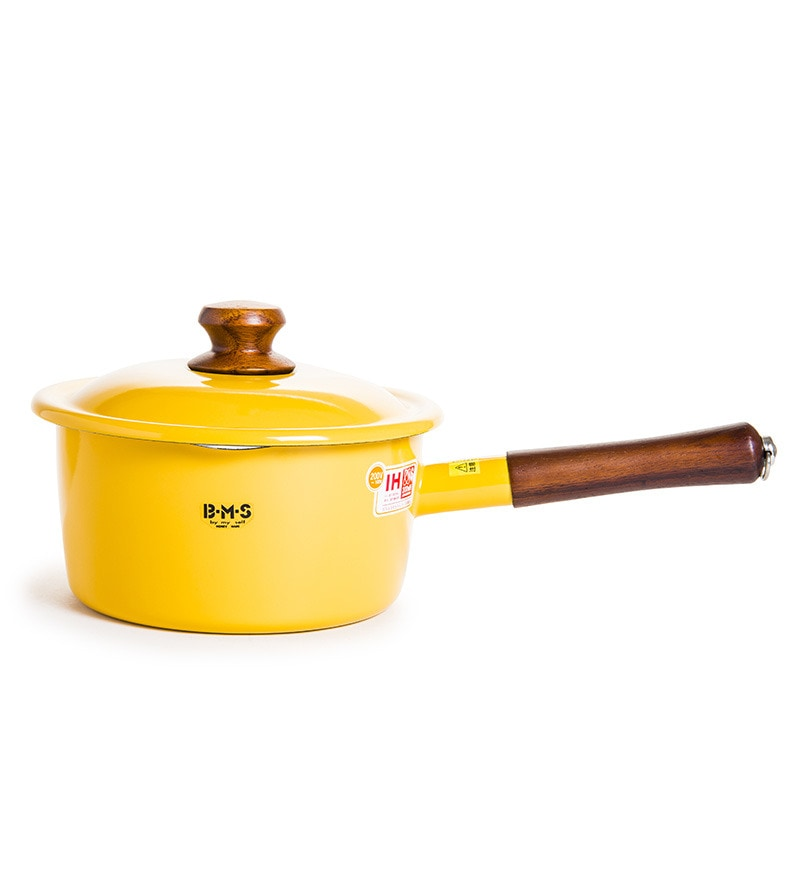 2300 ML Sauce Pan with Lid - Yellow by Fujihoro