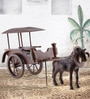 Brown Wooden Vintage Horse Wagon by Furncoms