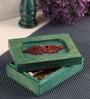 Mango Wood Blue Jewellery Box by Furnicheer