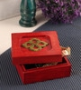 Mango Wood Red Jewellery Box by Furnicheer