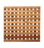 Furnicheer Brown Mango Wood 9 x 9 x 0.6 Inch Trivet