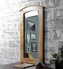 Furniselan Brown Mango Wood Framed Mirror