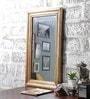 Furniselan Brown Mango Wood Framed Mirror