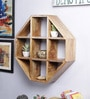 Brown Mango Wood Wall Shelf by Furniselan