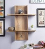 Furniselan Brown Mango Wood Wall Shelf