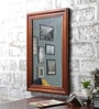 Furniselan Oak Mango Wood Framed Mirror