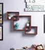 Furniselan Oak Mango Wood Wall Shelf