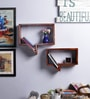 Oak Mango Wood Wall Shelf by Furniselan