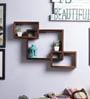 Furniselan Teak Mango Wood Wall Shelf
