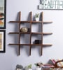 Furniselan Teak Mango Wood Wall Shelf