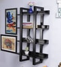 Furniselan Walnut Mango Wood Wall Shelf