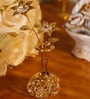 G n G 24K Gold Plated with Swarovski Crystals Flower Vase Showpiece