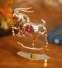 G n G 24K Gold Plated with Swarovski Crystals Capricorn Showpiece
