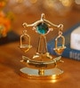 G n G 24K Gold Plated with Swarovski Crystals Libra Showpiece