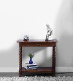 Garbut Compact Console Table in Provincial Teak Finish