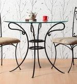 Garden cum Outdoor Metallic Table in Black Colour