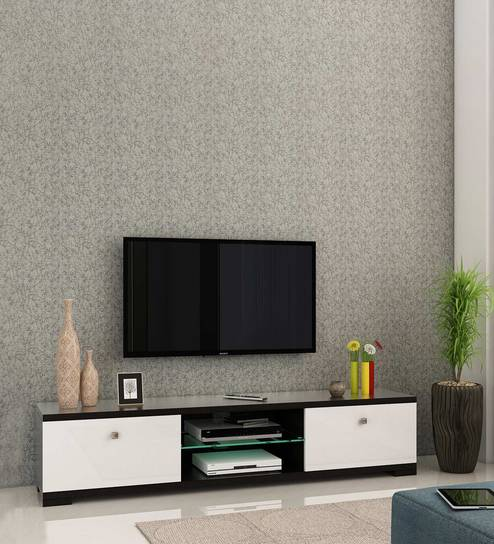 Galaxy TV Unit in Natural Wenge Melamine Finish by Spacewood