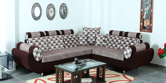 Phenomenal Gavin C Type Six Seater Sectional Sofa In Coffee Light Brown By Hollywood Furniture Caraccident5 Cool Chair Designs And Ideas Caraccident5Info
