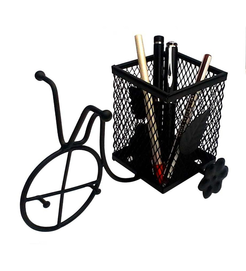 Gac Trend Black Metal Rickshaw Pen Holder