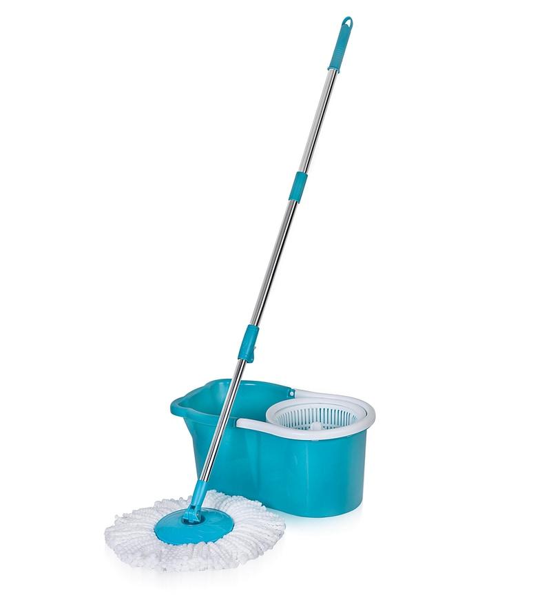 Gala Aqua Blue & White Spin Mop