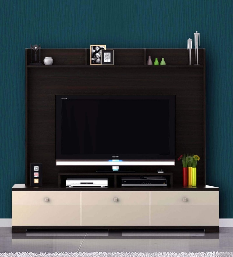 c443e03f8 Buy Galaxy Entertainment cum Wall TV Unit in Fumed Oak Melamine ...