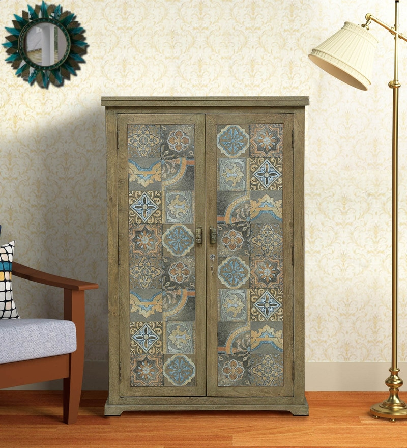 Artistic Wardrobe With Solid Wood
