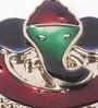 Gupta Glass Gallery Multicolour Metal Ganesh Meena Kum Kum Box