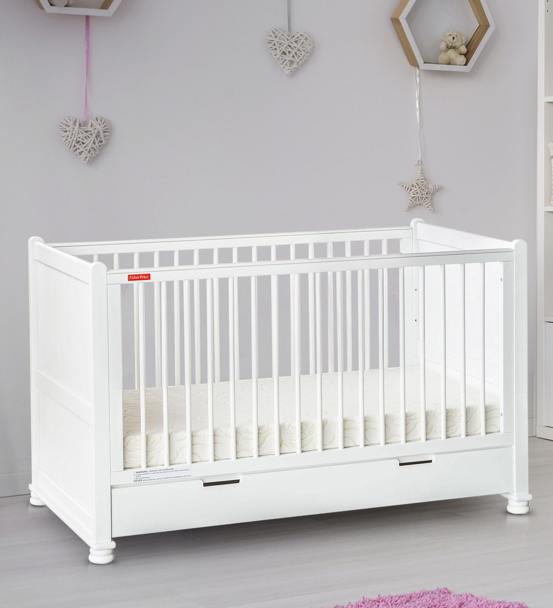 Buy Georgia Crib Cum Toddler Bed Without Mattress In White By Fisher Price Online Cribs Cribs Kids Furniture Pepperfry Product