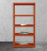 Gen Display Unit cum Book Shelf in Orange Finish