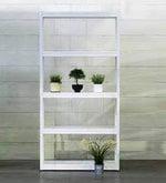 Gen Display Unit cum Book Shelf in White Finish
