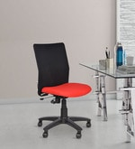 Geneva Armless Office and Study Chair in Red Colour