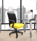Geneva Desktop Marina Office Ergonomic Chair in Black & Yellow Colour