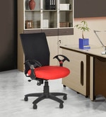 Geneva Desktop Office and Study Chair in Red Colour