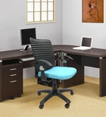 Geneva Office Ergonomic Chair in Sky Blue Colour