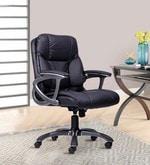 Genius Medium Back Chair in Black Colour