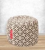 Geometric Design Large Pouffe in Multicolour