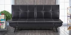 Geneva Sofa cum Bed in Black Colour