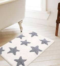 Geometric Cotton 24 x 16 inches Soft Fast Water Absorbent Bath Mat