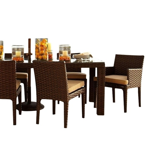 Cappuccino Coffee Table Set.Cappuccino Six Seater Dining Set 1t 4c 2ac By Gebe