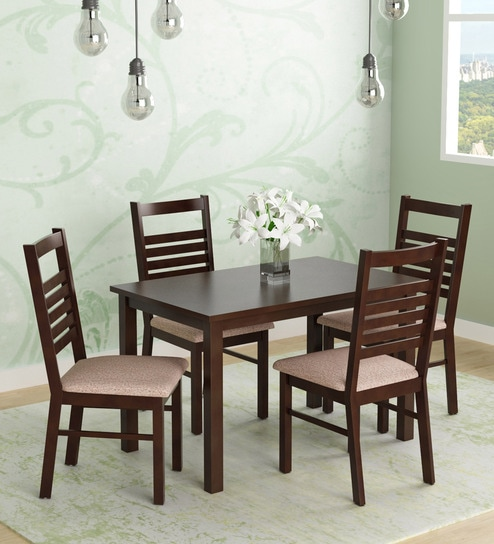 aa62ab3b30 Buy Gem Four Seater Dining Set in Cappucino Finish by @home Online - Four  Seater Dining Sets - Dining - Furniture - Pepperfry Product