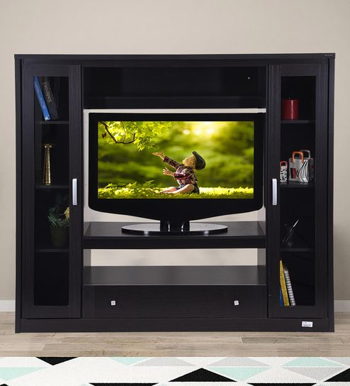 Tremendous Geneva Wall Tv Unit In Wenge Finish By Royaloak Home Interior And Landscaping Ponolsignezvosmurscom