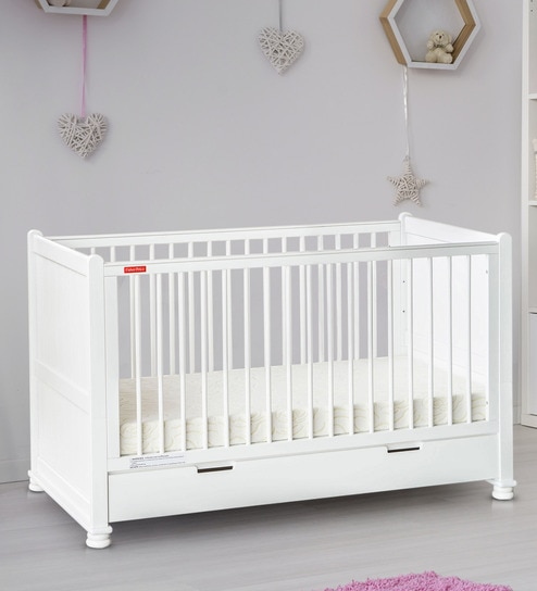 check out 51998 94a15 Georgia Crib Cum Toddler Bed (without Mattress) in White by Fisher Price