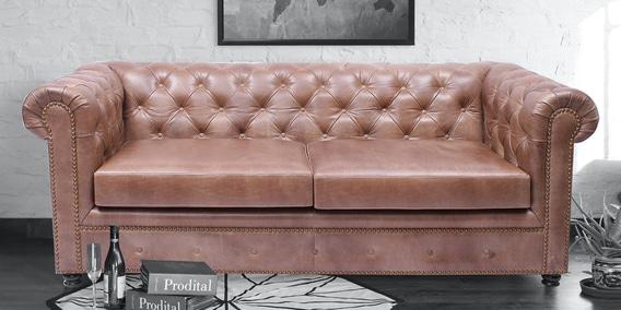 Gentlemans Club 3 Seater Sofa In