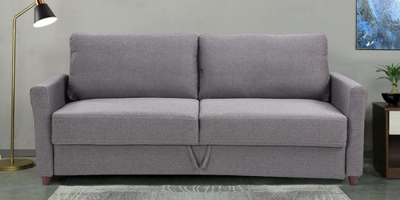 George Three Seater Sofa With Storage In Grey Colour By Durian