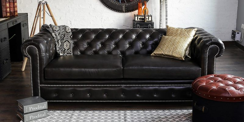 Buy Gentlemans Club Three Seater Chesterfield Sofa In