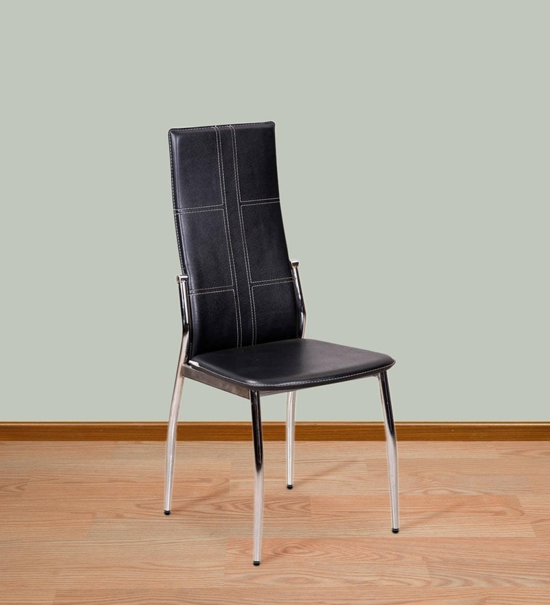 Geneva Dining Chair in Black Leatherette by Royal Oak