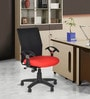 Geneva Desktop Office and Study Chair in Red Colour by Chromecraft