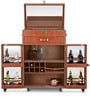 Genuine Leather Bar Cabinet in Brown Colour by Studio Ochre