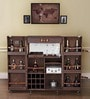 Heritage Trunk Bar Cabinet in Brown Leather by Studio Ochre