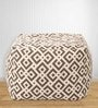 Geometric Design Large Pouffe in Multicolour by Style HomeZ